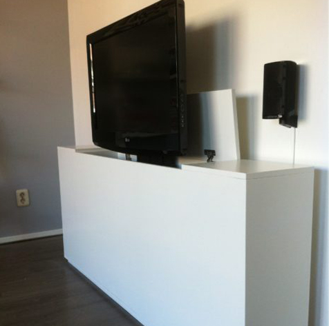 tv kast met lift luuksdesign