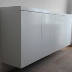 tv kast met lift strak zwevend detail
